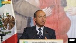 Felipe Calderón, mandatario mexicano