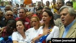 Protestan contra la detención de alcalde de Caracas.