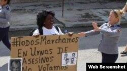 Arrestan a líder de Damas de Blanco Berta Soler