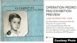 Exposición sobre historia de Operación Pedro Pan en museo de Miami.