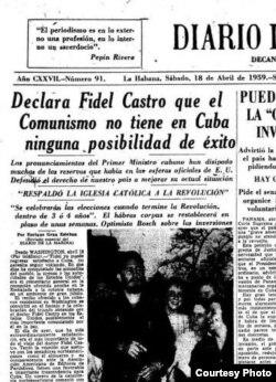 No soy comunista, dijo Castro a la prensa.