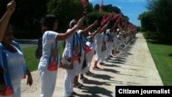 Reporta Cuba Damas de Blanco septiembre 28 Foto María Cristina Labrada