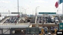 Paso fronterizo entre EEUU y México.