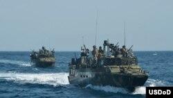 Botes de la armada de EEUU.