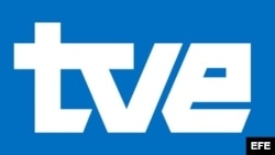Logotipo de Televisión Española (TVE), perteneciente al mayor grupo audiovisual de España, Radio Televisión Española (RTVE).