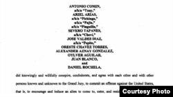 Fragmento de la acusación por tráfico de personas contra 10 cubanos de la Florida