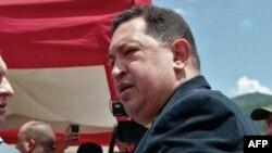 El presidente socialista Hugo Chávez.