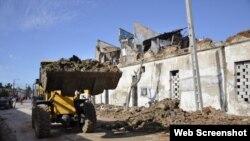 Camagüey Derrumbes Tormenta / Foto Periódico Adelante