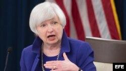 La presidenta del la Reserva Federal estadounidense, Janet Yellen.