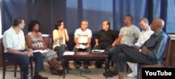 Reporta Cuba. Foro por Derechos y Libertades, durante un encuentro en la sede de Estado de Sats en enero de 2015.