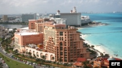 Hoteles en las playas de Cancún (México)