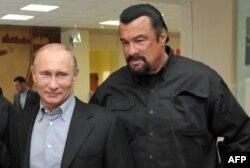 Vladimir Putin y Steven Seagal