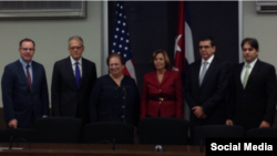 Mari Carmen Aponte y Josefina Vidal encabezaron la IV Ronda bilateral en la comisión Cuba-EEUU.