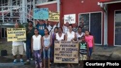 Parte del grupo de cubanos varados en Surinam, miércoles 12 de julio de 2017.