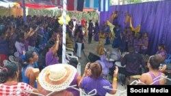 """Participantes en el evento """"Déboras 2019"""", a cargo del Movimiento Mover Apostólico en Santiago de Cuba. (FACEBOOK)."""