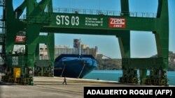 El puerto Mariel, en Artemisa, Cuba.