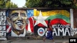 La capital birmana, Yangon, a la espera de la visita de Barack Obama la semana entrante.