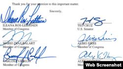 Seis congresistas urgen al Gobierno de Obama a cesar las concesiones a Cuba, a la luz de la represión.