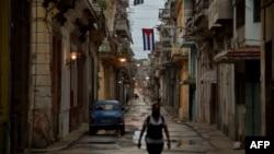 Calle de La Habana durante las restricciones de salir de casa para evitar el contagio del coronavirus