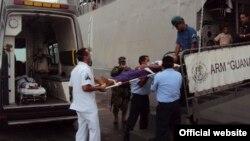 Rescate de balseros cubanos por la Armada mexicana. Archivo.
