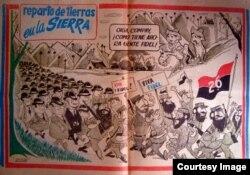 Esta fue una de las caricaturas que le costó a Antonio Prohías la temprana condena de Fidel Castro en 1959 (De Prohías Político/blog de Enrisco).