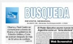 Titular de Búsqueda sobre mediación de Mujica entre Cuba y EEUU