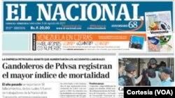 El Nacional, diario de Venezuela.