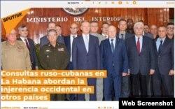 Lo que pasó en la reunión, según la prensa rusa. (Captura de imagen/Sputnik)