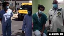 Imágenes difundidas por el régimen cubano de Luis Manuel Otero Alcántara en el hospital Calixto García.