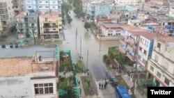 Inundaciones en La Habana.