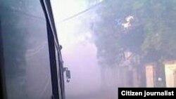 Fumigación en La Habana para exterminar focos de aedes aegypti.