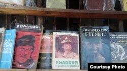 Biografías de dictadores en anaqueles de libreros particulares, en La Habana (foto de Wichy García)