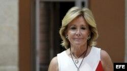 La presidenta de la Comunidad, Esperanza Aguirre, anunció su renuncia al cargo de jefa del Gobierno madrileño y como diputada en la Asamblea de Madrid.