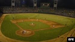 Vista general del estadio Latinoamericano en La Habana, Cuba.