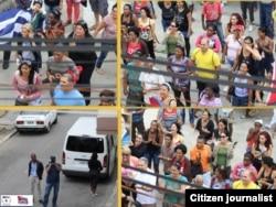 Actos de repudio contra Damas de Blanco en La Habana. (Foto: Angel Moya)