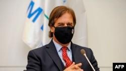 El presidente de Uruguay, Luis Lacalle Pou (Agencia AFP).