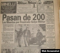Así informó la prensa venezolana sobre la intentona golpista
