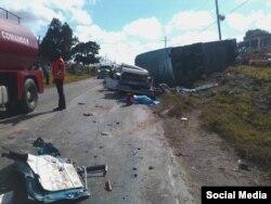 Accidente de tránsito en Camagüey /Tomado de Facebook del diario Adelante