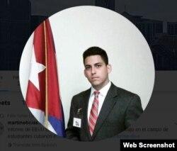 Félix Yuniel Llerena López. Foto tomada de su página de Twitter.