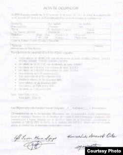 Dinero ocupado a Francisco Luis Manzanet