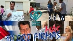 Entregan 10 mil nuevas firmas del Proyecto Varela en sede nacional del Poder Popular