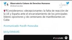 Info Martí | Entregan a la Unión Europea informe de graves violaciones de derechos humanos en Cuba