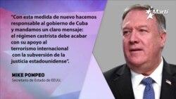 Reacciones ante la inclusión de Cuba en lista de países patrocinadores del terrorismo