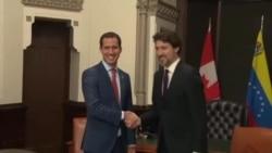 Justin Trudeau recibe a Juan Guaidó en Canadá