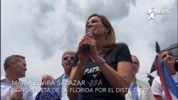 Congresista María Elvira Salazar hace dos pedidos a manifestantes