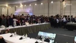 Delegación oficialista de Cuba interrumpe al Secretario General de la OEA en Foro de Lima, Perú.