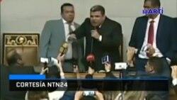 Juan Guaidó fue juramentado en las instalaciones de la Asamblea Nacional