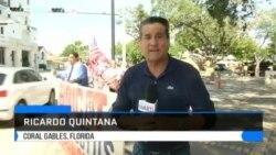 Cubanos en el exilio protestan en Miami frente al consulado de España