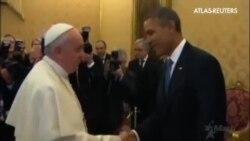 El Papa recibe a Obama