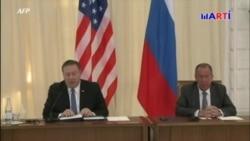 En agenda Venezuela en reunión Pompeo-Lavrov